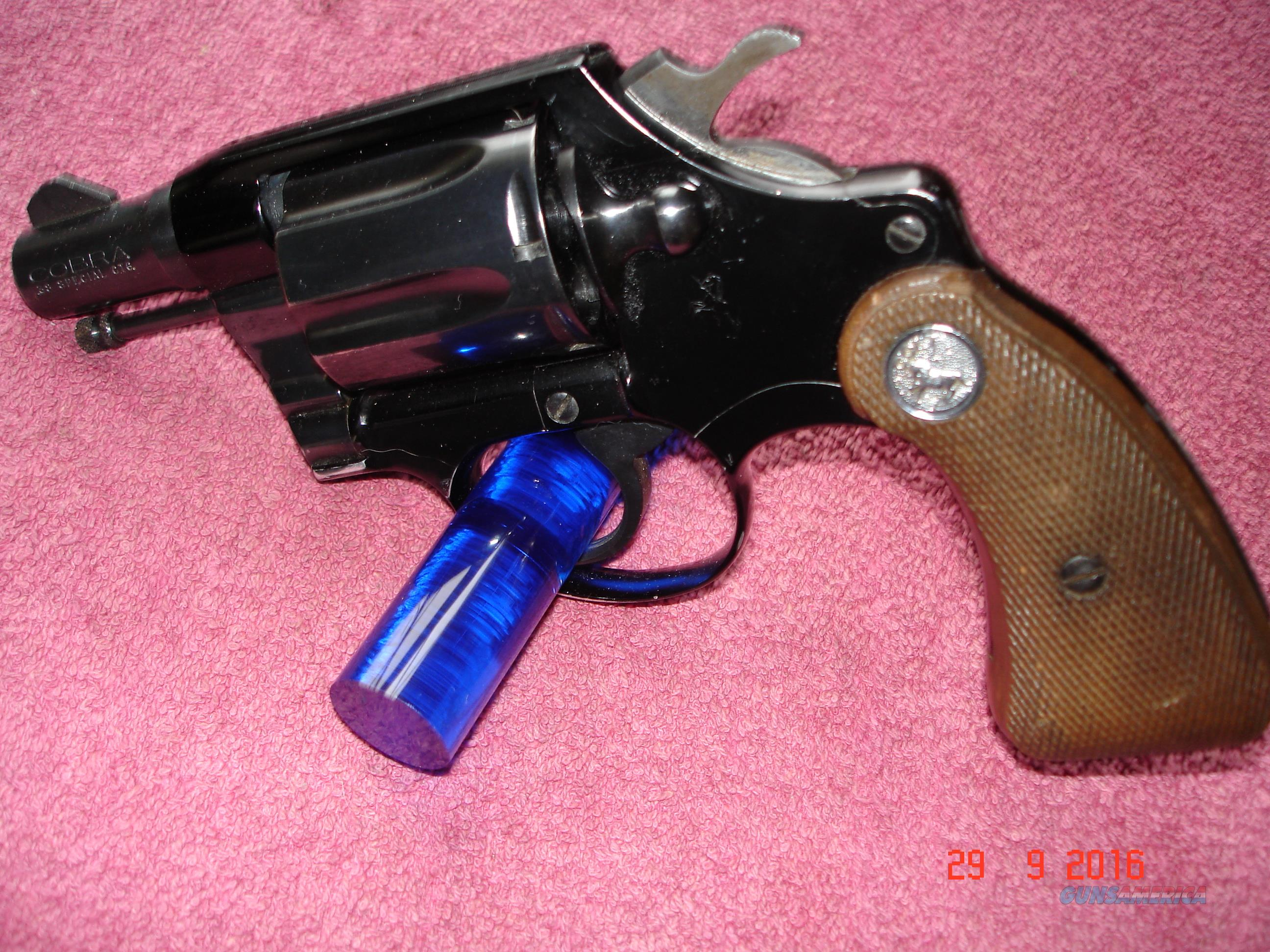 "Colt Cobra 1st issue MFG 1968 Excellent 2""BBl .38Spec.  Guns > Pistols > Colt Double Action Revolvers- Modern"