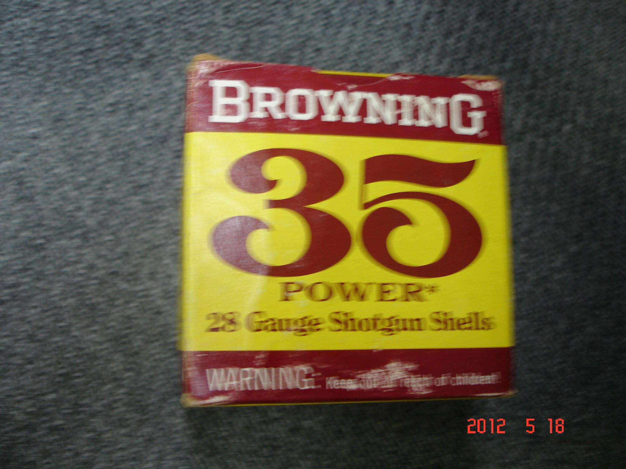 Browning 28GA 35 Power Shotshells  Non-Guns > Ammunition