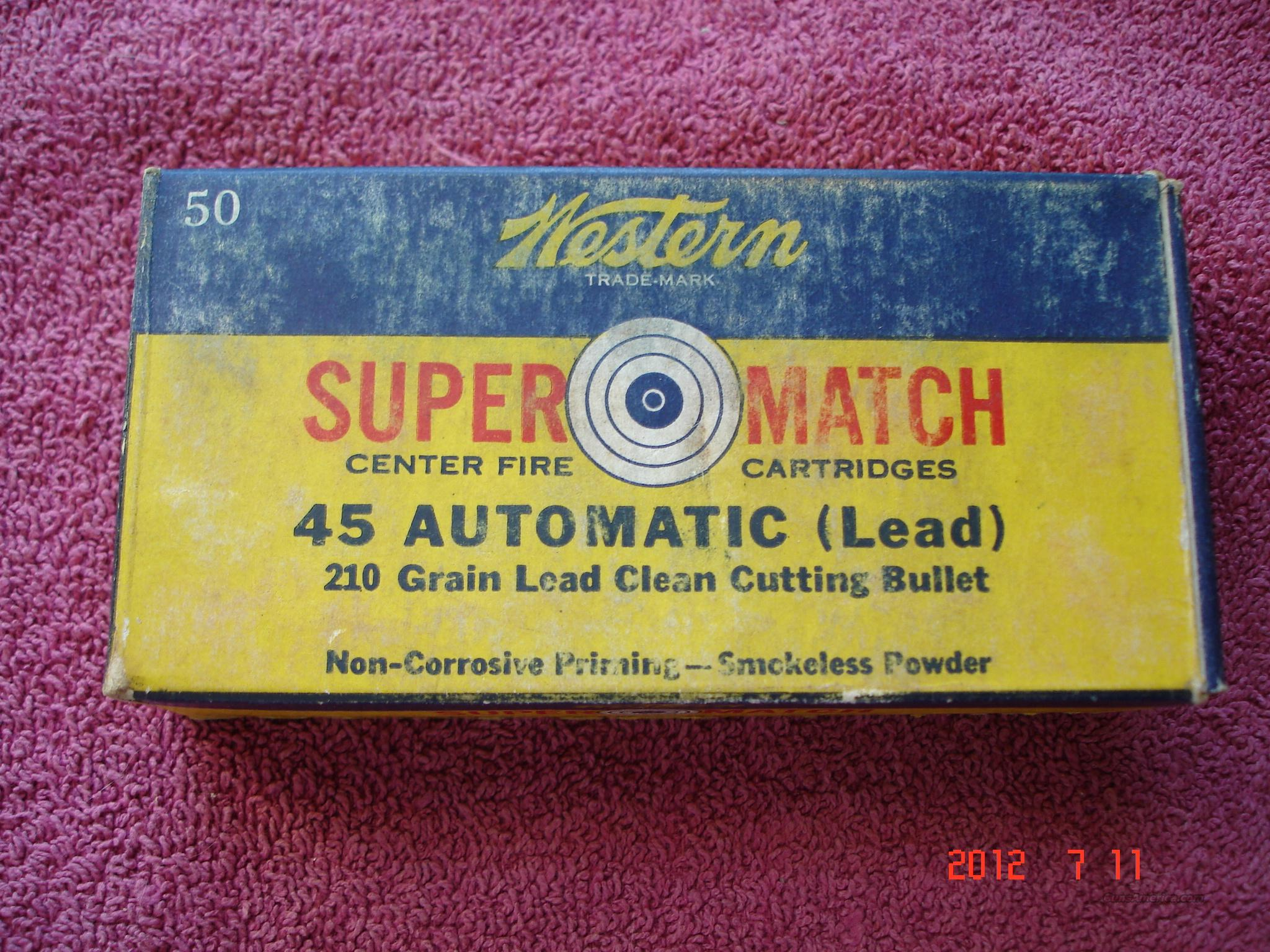 Vintage Western .45ACP SuperMatch Box  Non-Guns > Ammunition