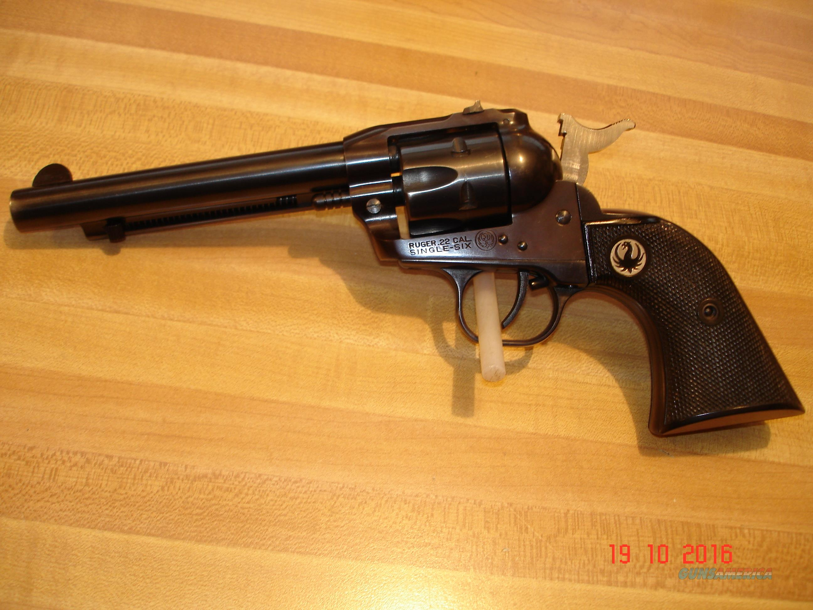 "Ruger Single six Flat Gate 3-Screw 5 1/2"" Excellent MFG 1956 .22LR  Guns > Pistols > Ruger Single Action Revolvers > Single Six Type"