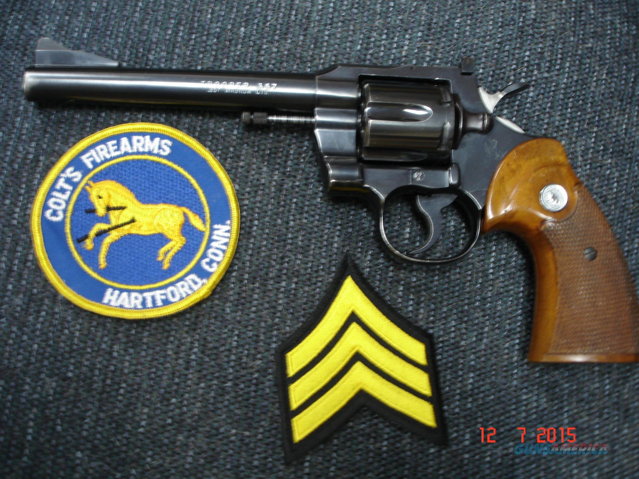 "Colt .357 Trooper MFG 1968 6"" BBl.TS,TH  Guns > Pistols > Colt Double Action Revolvers- Modern"