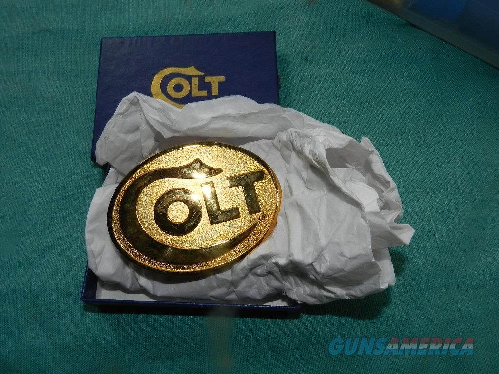 COLT GOLD FACTORY NOS BELT BUCKLE  Non-Guns > Logo & Clothing Merchandise