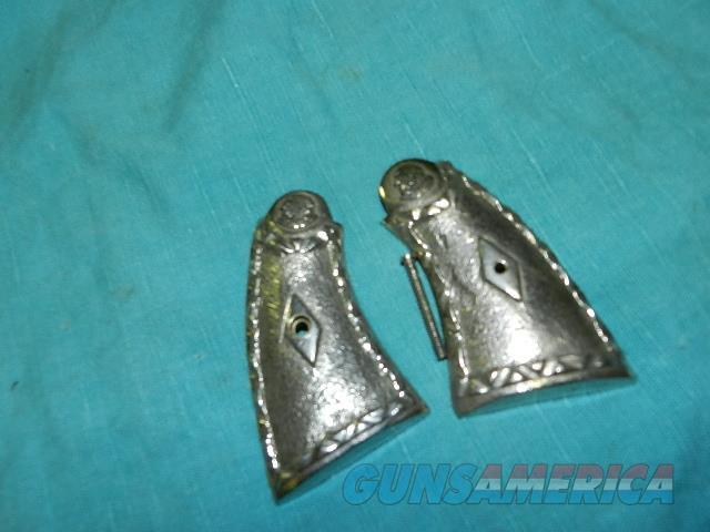 S&W MODEL 10 K FRAME NICKLE GRIPS  Non-Guns > Gunstocks, Grips & Wood