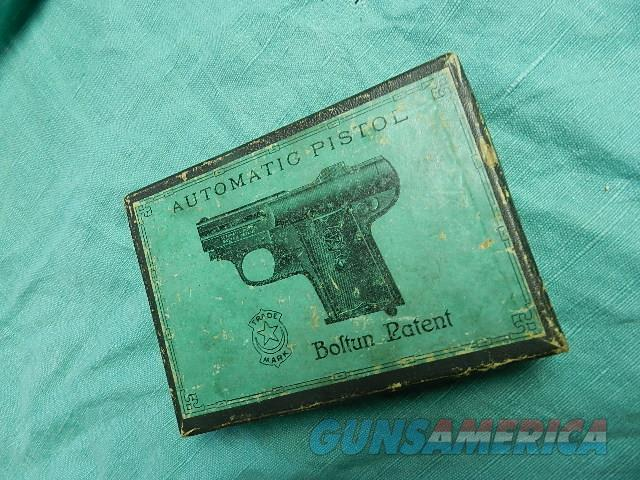 RARE BOLTUN PATENT AUTOMATIC PISTOL BOX  Non-Guns > Gun Cases