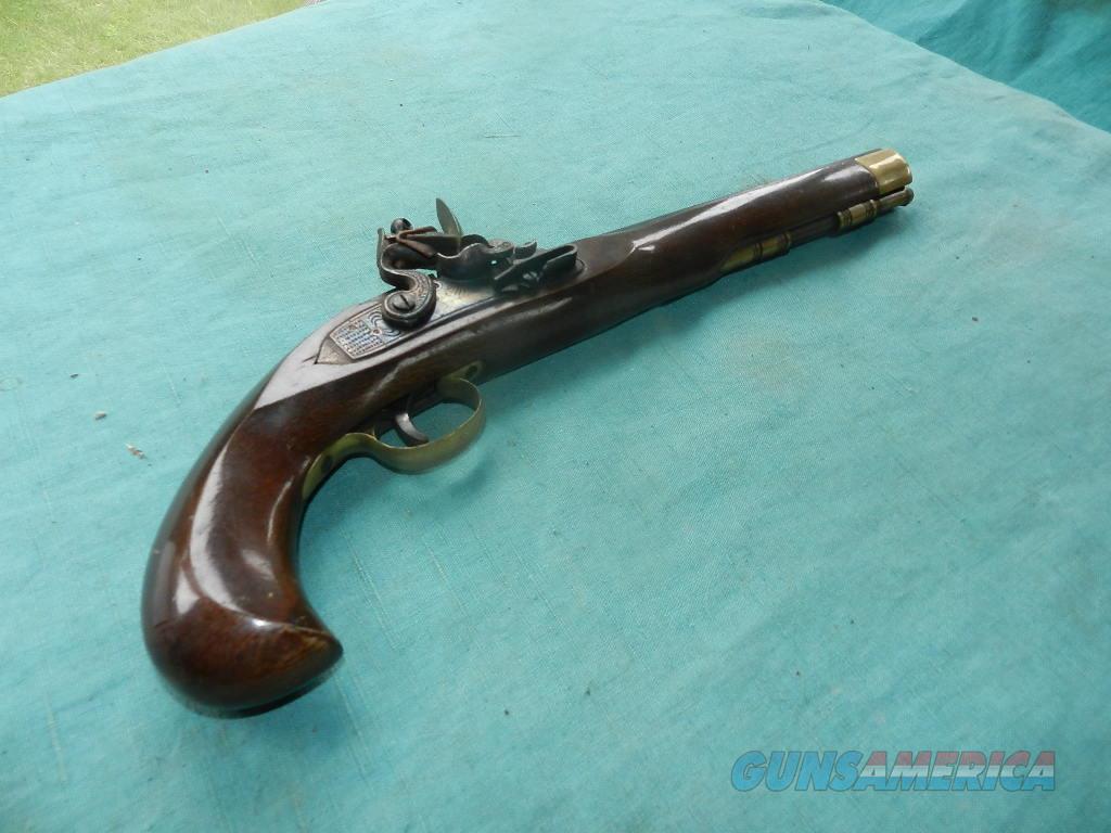 LONG .45 CAL FLINTLOCK PISTOL  Guns > Pistols > Pedersoli Pistols > Flintlock