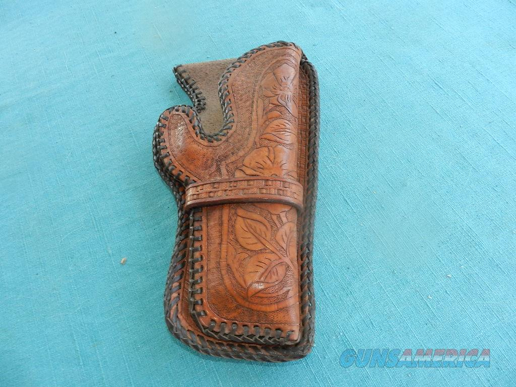 COLT REVOLVER HAND TOOLED WESTERN HOLSTER  Non-Guns > Holsters and Gunleather > Police Belts/Holsters
