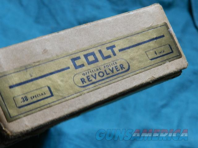 COLT VINTAGE OFFICIAL POLICE 38 SPEC BOX  Non-Guns > Gun Cases