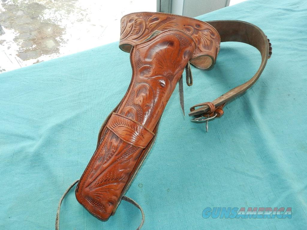 "COLT SAA 7 1/2"" TOOLED HOLSTER RIG  Non-Guns > Holsters and Gunleather > Cowboy"