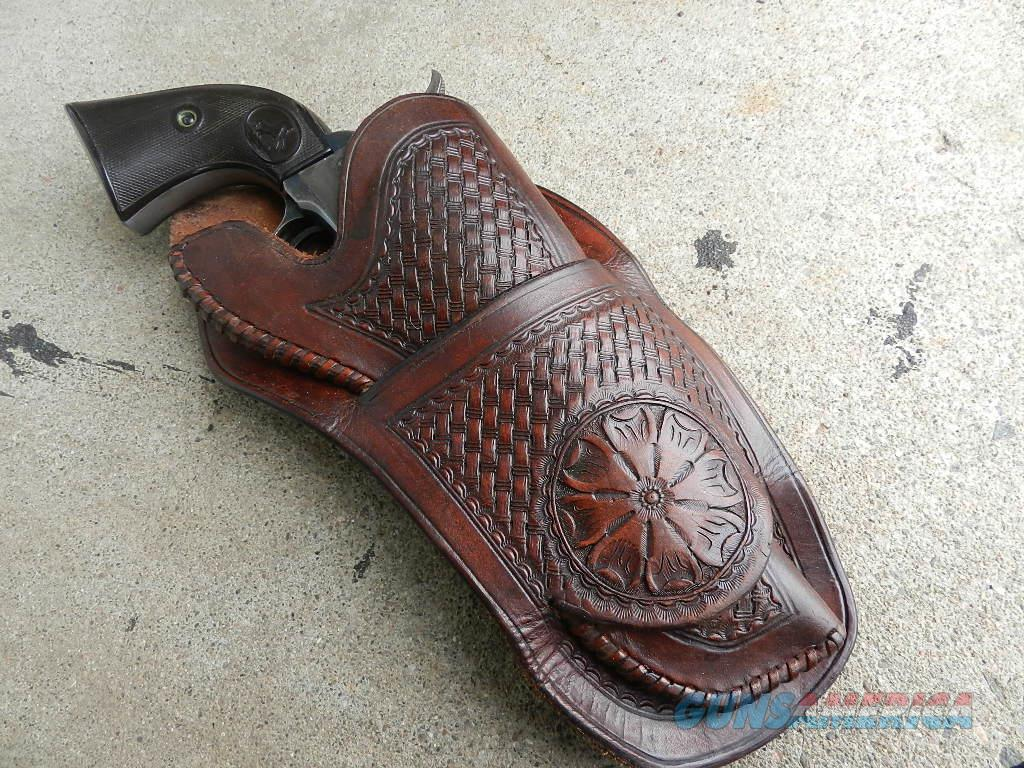COLT SAA HAND TOOLED LEATHER HOLSTER  Non-Guns > Holsters and Gunleather > Other