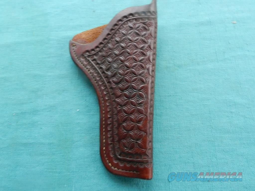 LARGE FRAME REVOLVER TOOLED HOLSTER  Non-Guns > Holsters and Gunleather > Revolver