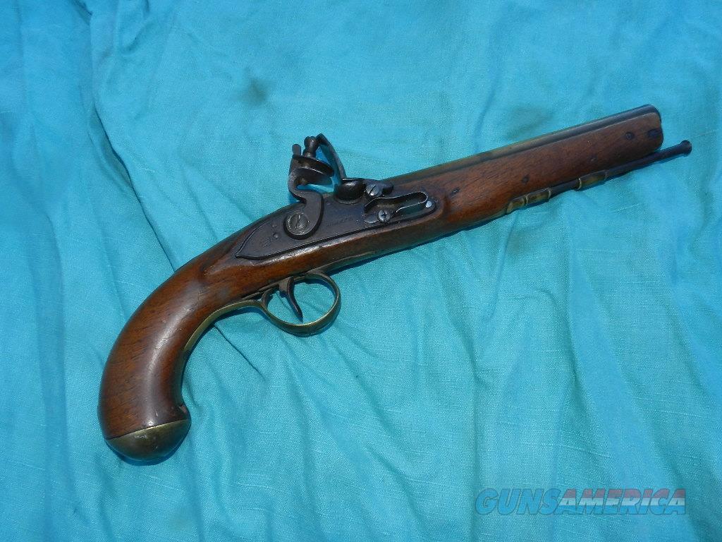 SHARPE  EXTRA PROOF OFFICERS FLINTLOCK PISTOL  Guns > Pistols > Muzzleloading Pre-1899 Pistols (flint)