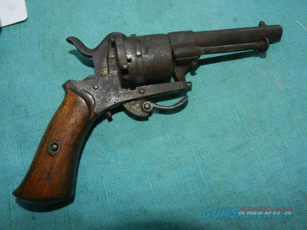 19th Century .25 Cal. Pinfire Revolver  Guns > Pistols > Antique (Pre-1899) Pistols - Ctg. Misc.