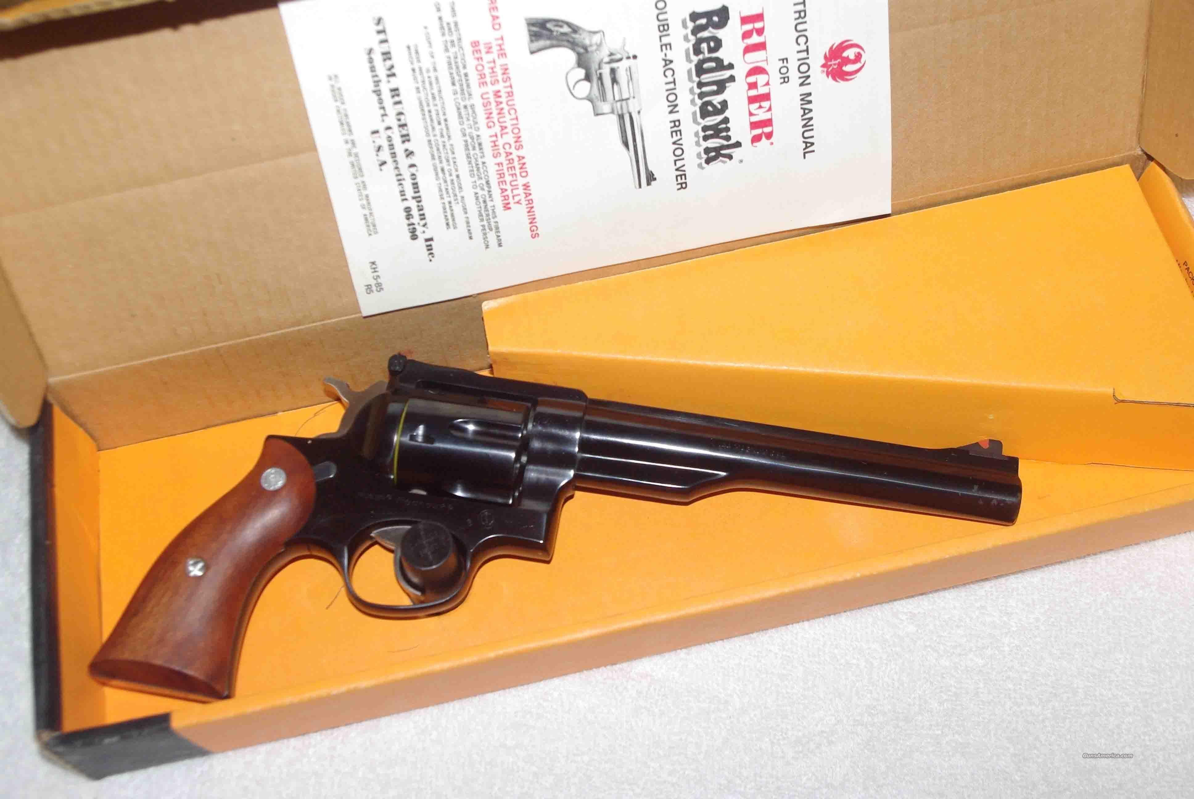 RUGER REDHAWK 1985 NIB .44 MAG.  Guns > Pistols > Ruger Double Action Revolver > Redhawk Type