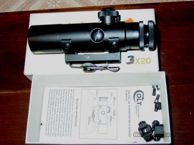 COLT 3x20 AR 15 SCOPE  Non-Guns > Scopes/Mounts/Rings & Optics > Tactical Scopes > Variable Recticle