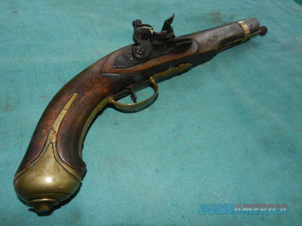 Flintlock pistol with old and newer Parts .65 cal.  Guns > Pistols > Muzzleloading Modern & Replica Pistols (flint)