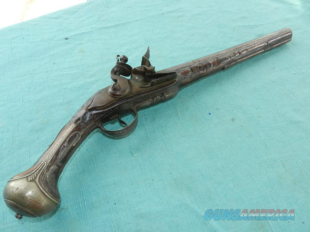 ITALIAN 18TH CENTURY FLINTLOCK PISTOL  Guns > Pistols > Muzzleloading Pre-1899 Pistols (flint)