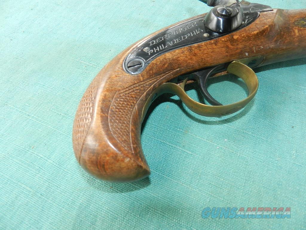 ENGRAVED PERCUSSION DERRINGER .40 CALIBER  Guns > Pistols > Muzzleloading Modern & Replica Pistols (perc)