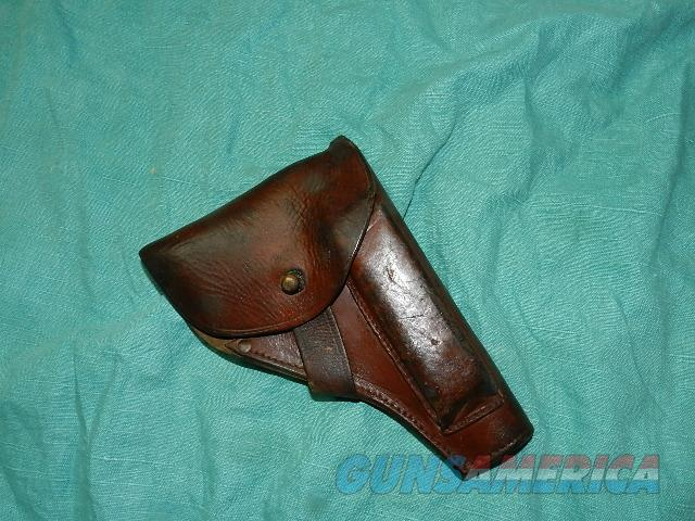 GERMAN WWII MILITARY HOLSTER FOR A .32 OR .380 AUTO  Non-Guns > Holsters and Gunleather > Military