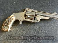 S&W RUSSIAN MODEL STAG GRIPS  Guns > Pistols > Smith & Wesson Revolvers > Pre-1899
