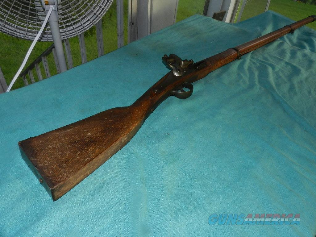 BELGIUM .60 CAL FLINTLOCK TRADE RIFLE  Guns > Rifles > Muzzleloading Pre-1899 Rifles (flint)