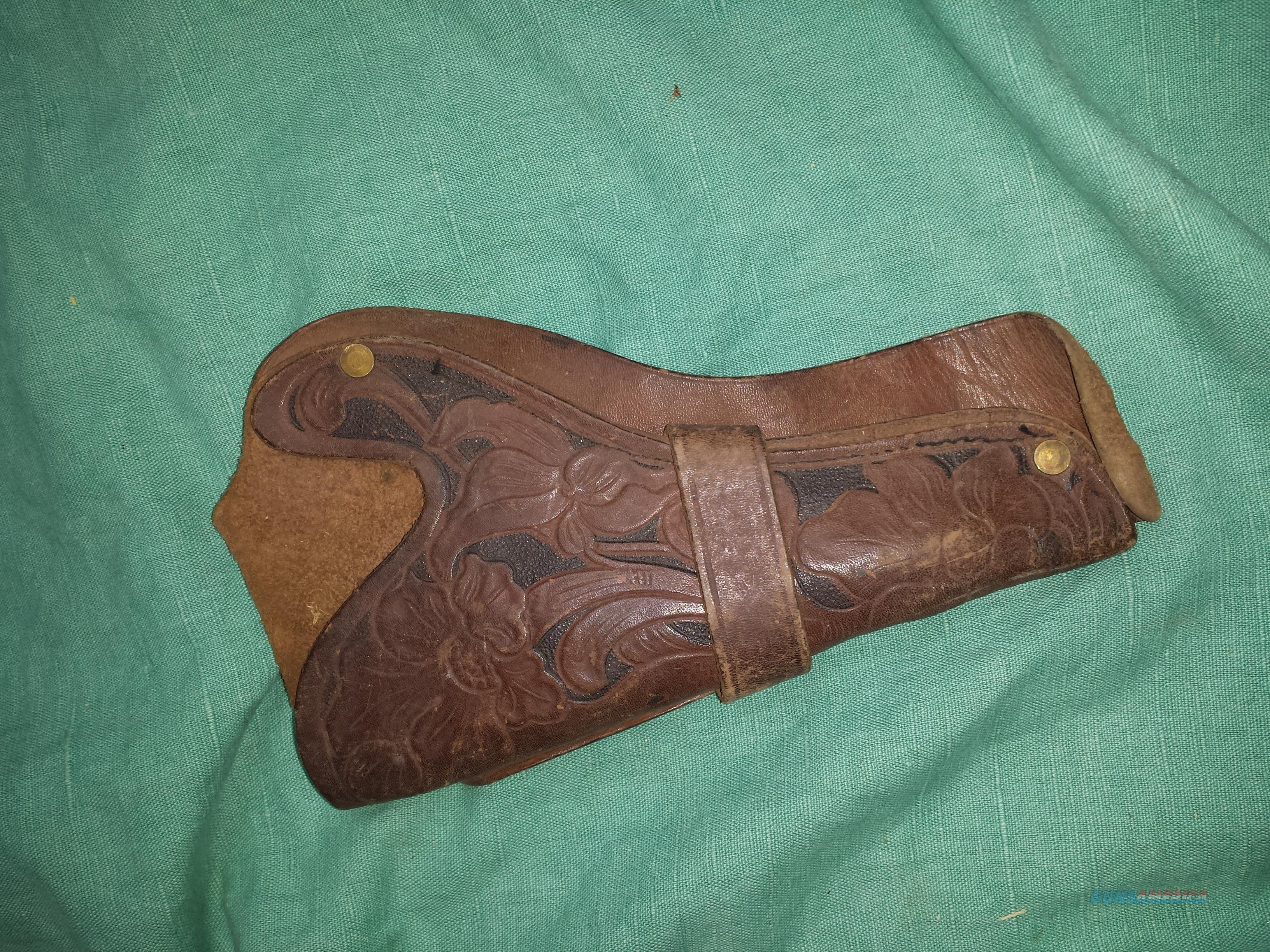 COWBOY VINTAGE TOOLED HOLSTER  Non-Guns > Holsters and Gunleather > Cowboy