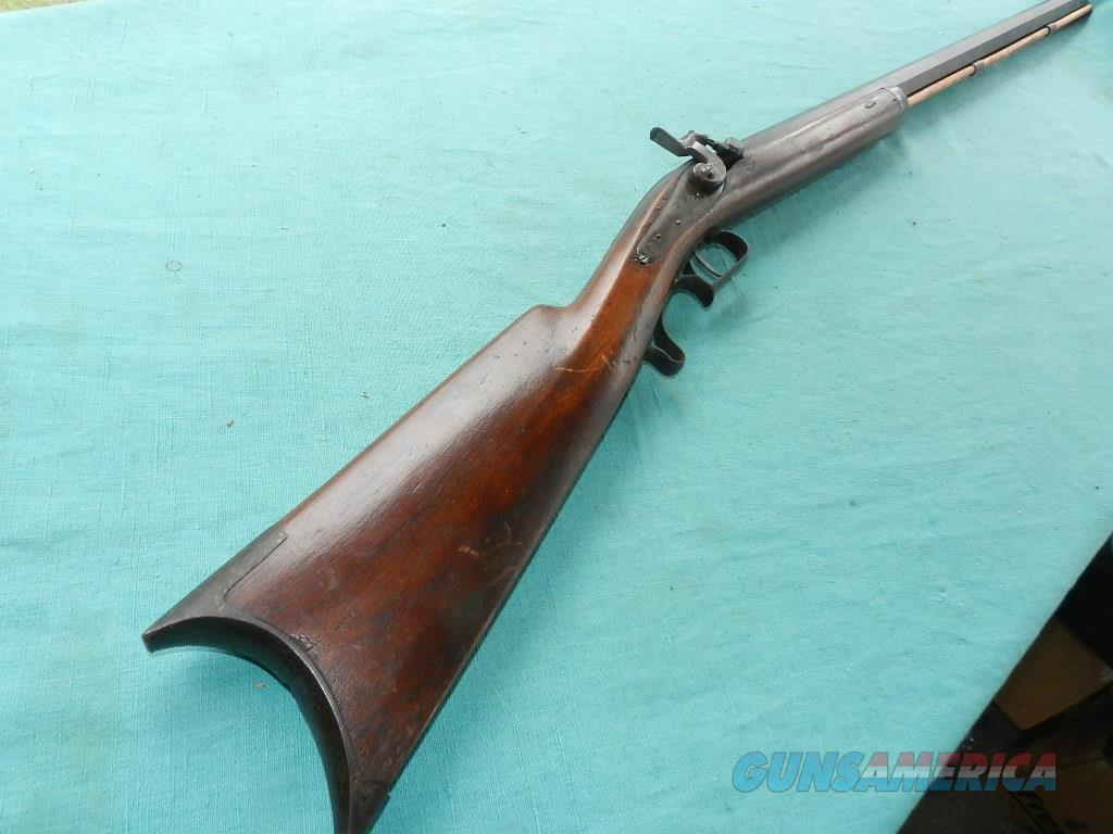 D.F. HILLIARD, CORNISH, N.H. HEAVY BARREL PERCUSSION RIFLE  Guns > Rifles > Muzzleloading Pre-1899 Rifles (perc)