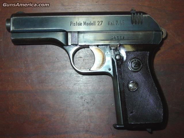 CZ  27 , 7.65Kal.  Guns > Pistols > CZ (Ceska ZBrojovka) Pistols