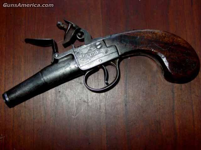 T. Colcomb Boxlock Flint  Guns > Pistols > Muzzleloading Pre-1899 Pistols (flint)