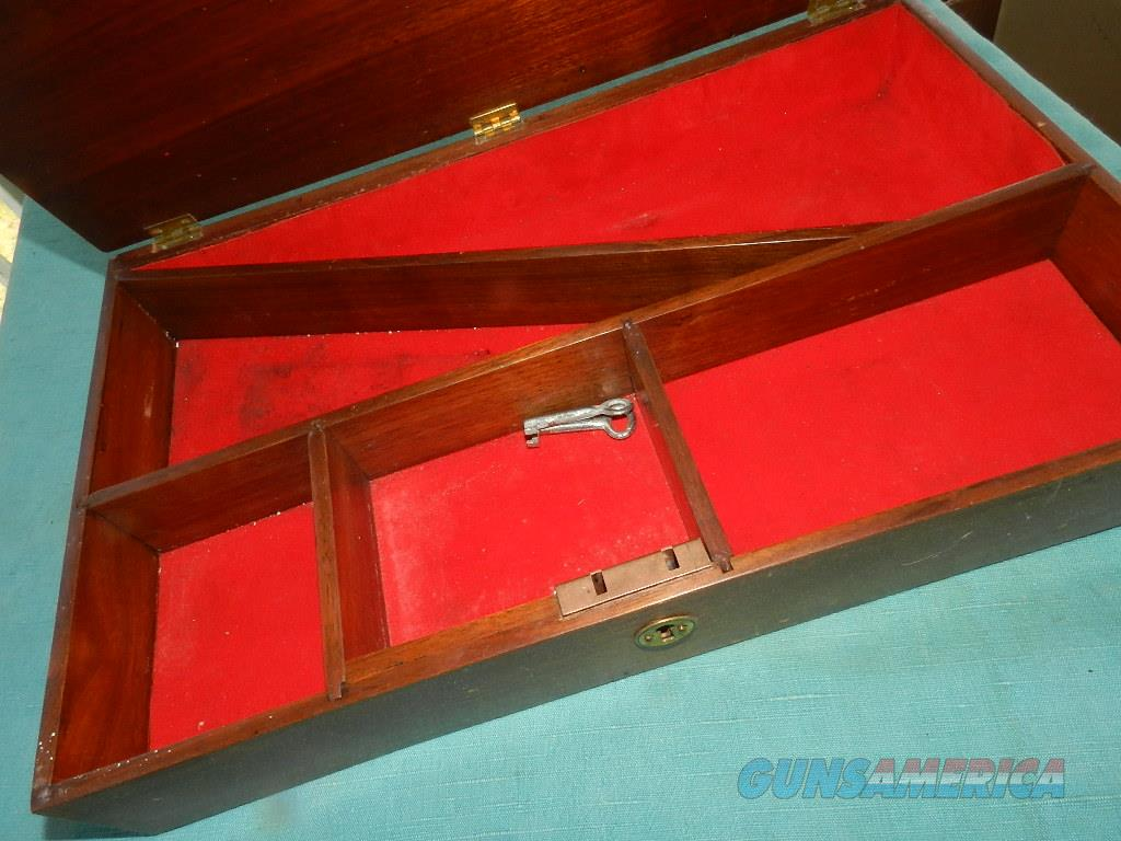 MAHOGANY LARGE DISPLAY BOX FOR TWO REVOLVERS  Non-Guns > Gun Cases