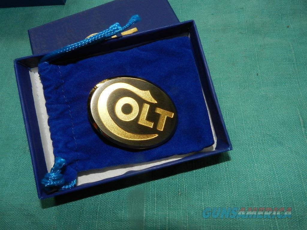 COLT NOS GOLD LOGO DRESS BUCKLE  Non-Guns > Logo & Clothing Merchandise