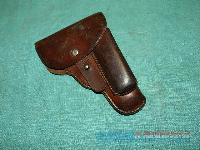 WWII LEATHER CZ 1941  MOD 27 FLAP HOLSTER  Non-Guns > Holsters and Gunleather > Military