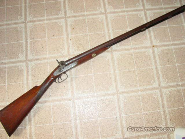 FORREST ENGLISH 10GA DOUBLE HAMMER SHOTGUN  Guns > Shotguns > Muzzleloading Pre-1899 Shotguns