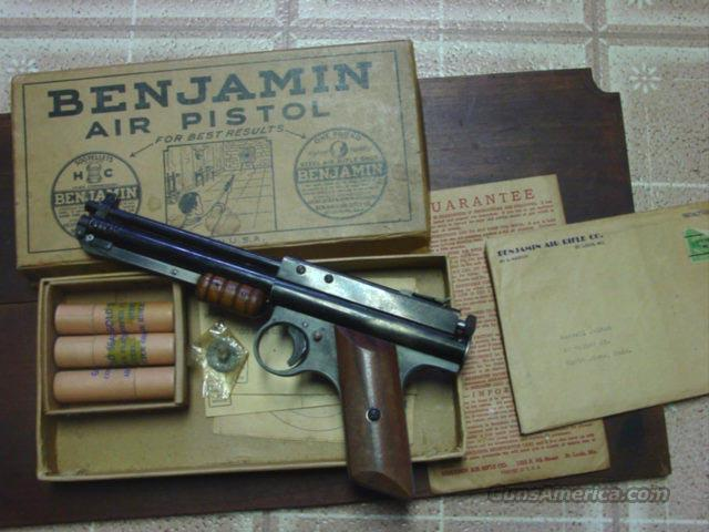 BENJAMIN PUMP PISTOL NO. 110 TO 150  Non-Guns > Air Rifles - Pistols > Vintage