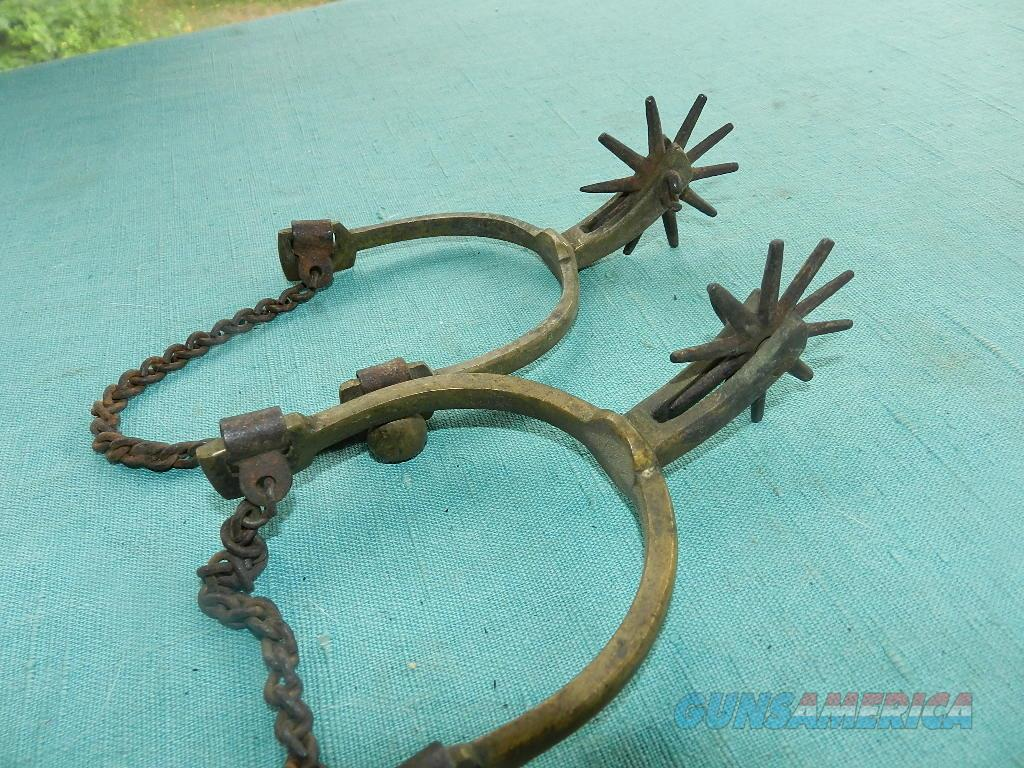 VINTAGE OLD WESTERN BRASS SPURS  Non-Guns > Cowboy Action/Western