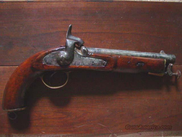 ENGLISH 1857 PERCUSSION TOWER PISTOL  Guns > Pistols > Muzzleloading Pre-1899 Pistols (perc)