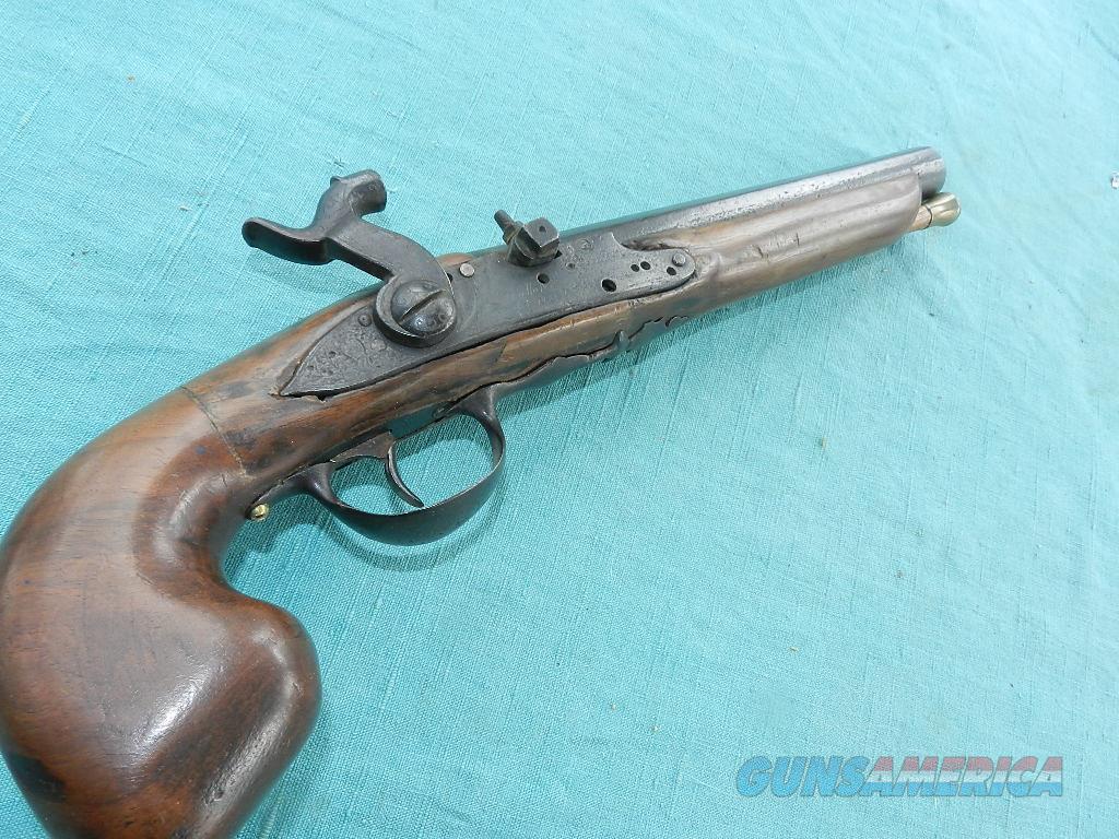 THIOLLIETE FRERES CONVERTED 18TH CENTURY PISTOL  Guns > Pistols > Muzzleloading Pre-1899 Pistols (flint)