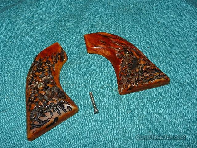 Colt SAA VINTAGE STAG GRIPS  Non-Guns > Gunstocks, Grips & Wood