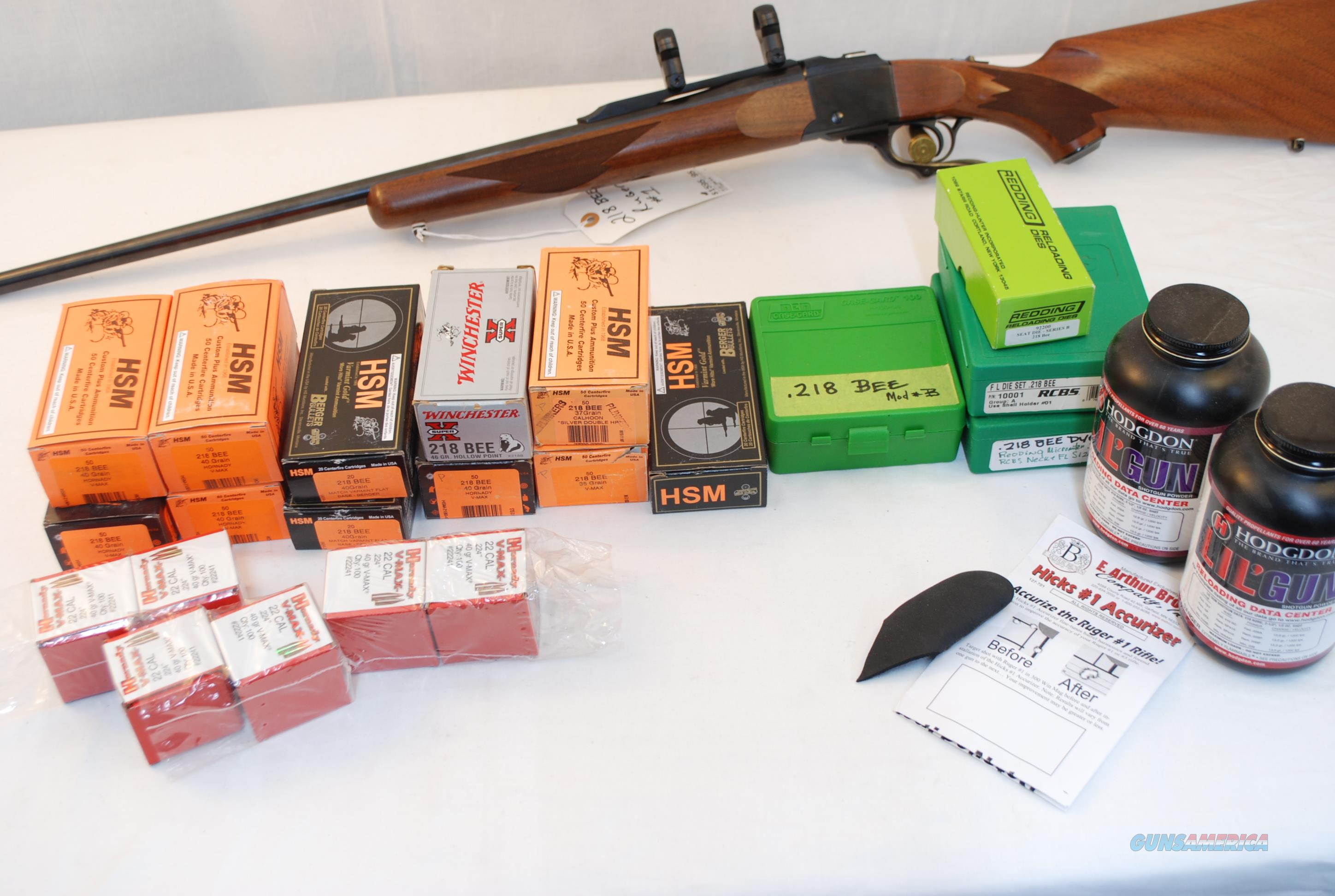 Ruger #1 .218 Bee Reloaders Package  Guns > Rifles > Ruger Rifles > #1 Type