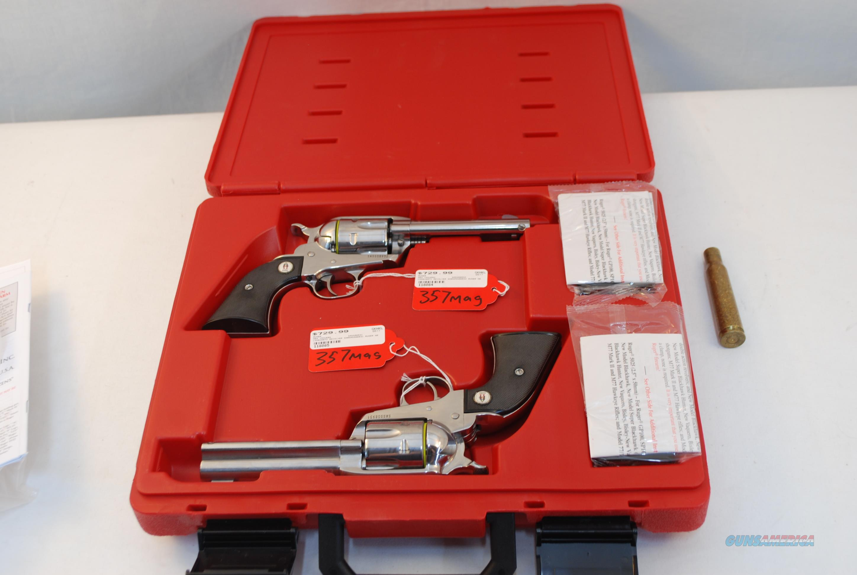 Ruger SASS Vaquero .357 Magnum  (.45 Colt also available)  Guns > Pistols > Ruger Single Action Revolvers > Cowboy Action
