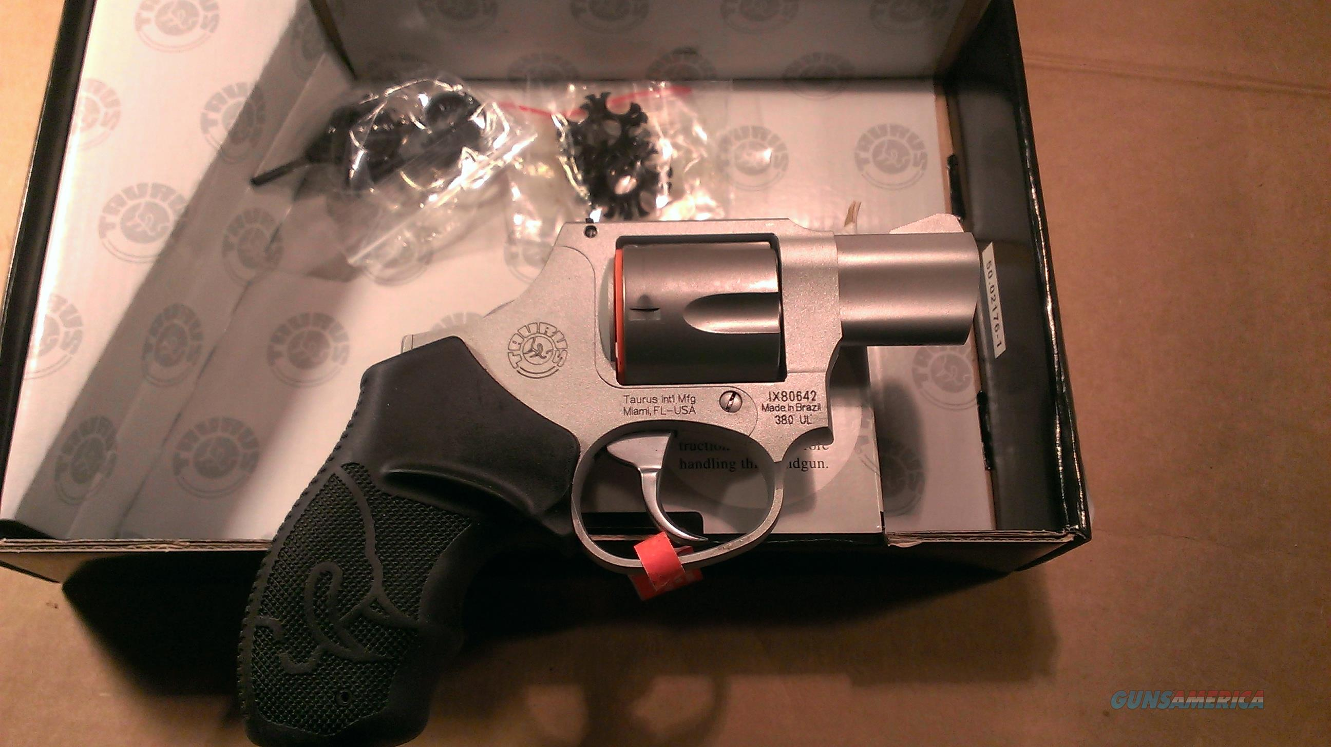 Taurus 380IB 380 UL .380acp revolver Stainless Steel NIB.   No Credit Card or shipping Charge.  Guns > Pistols > Taurus Pistols/Revolvers > Revolvers