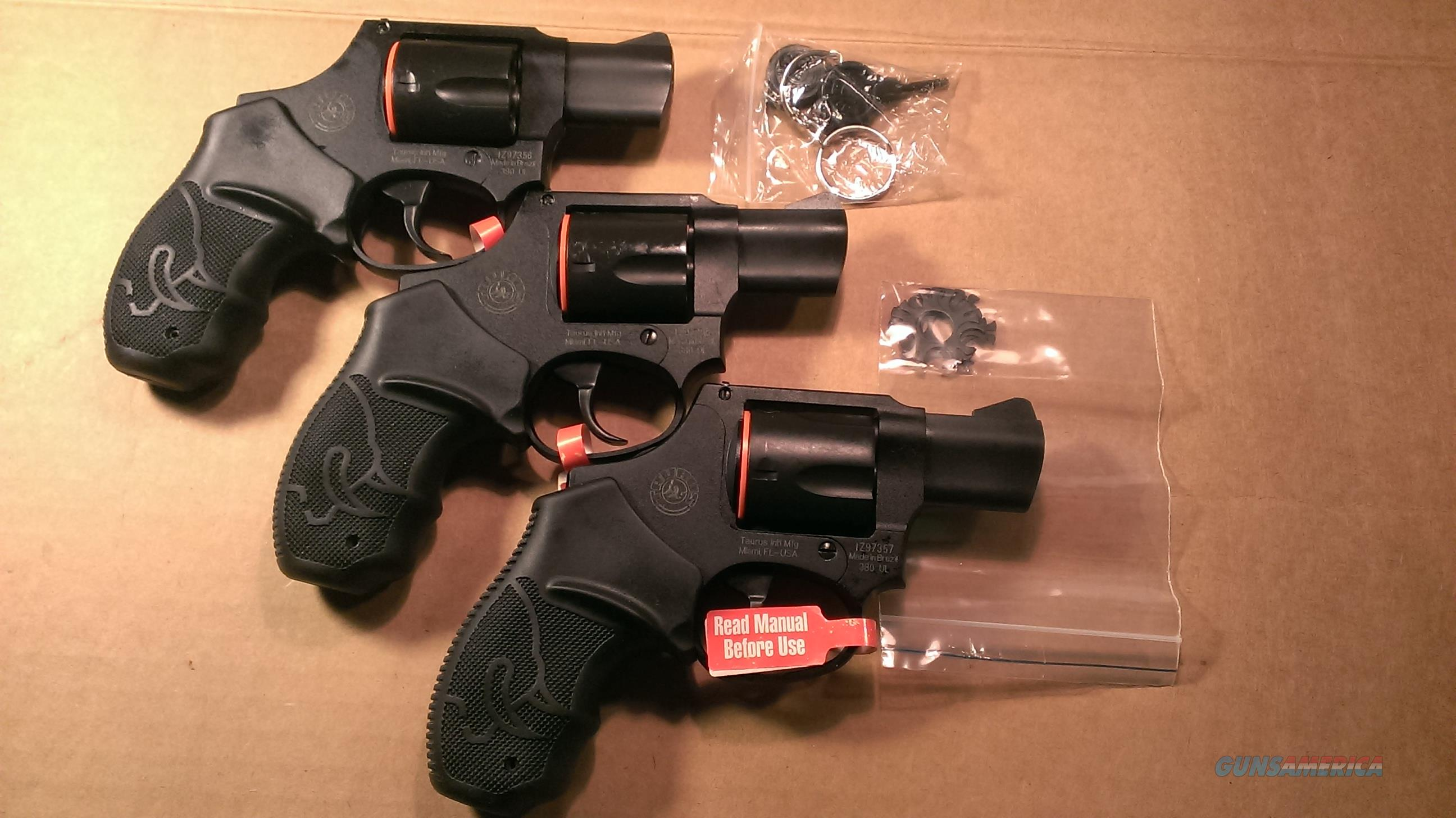 Taurus 380IB 380 UL .380acp revolvers set of 3 Consecutive Serial Numbers.   No Credit Card or shipping Charge.  Guns > Pistols > Taurus Pistols/Revolvers > Revolvers