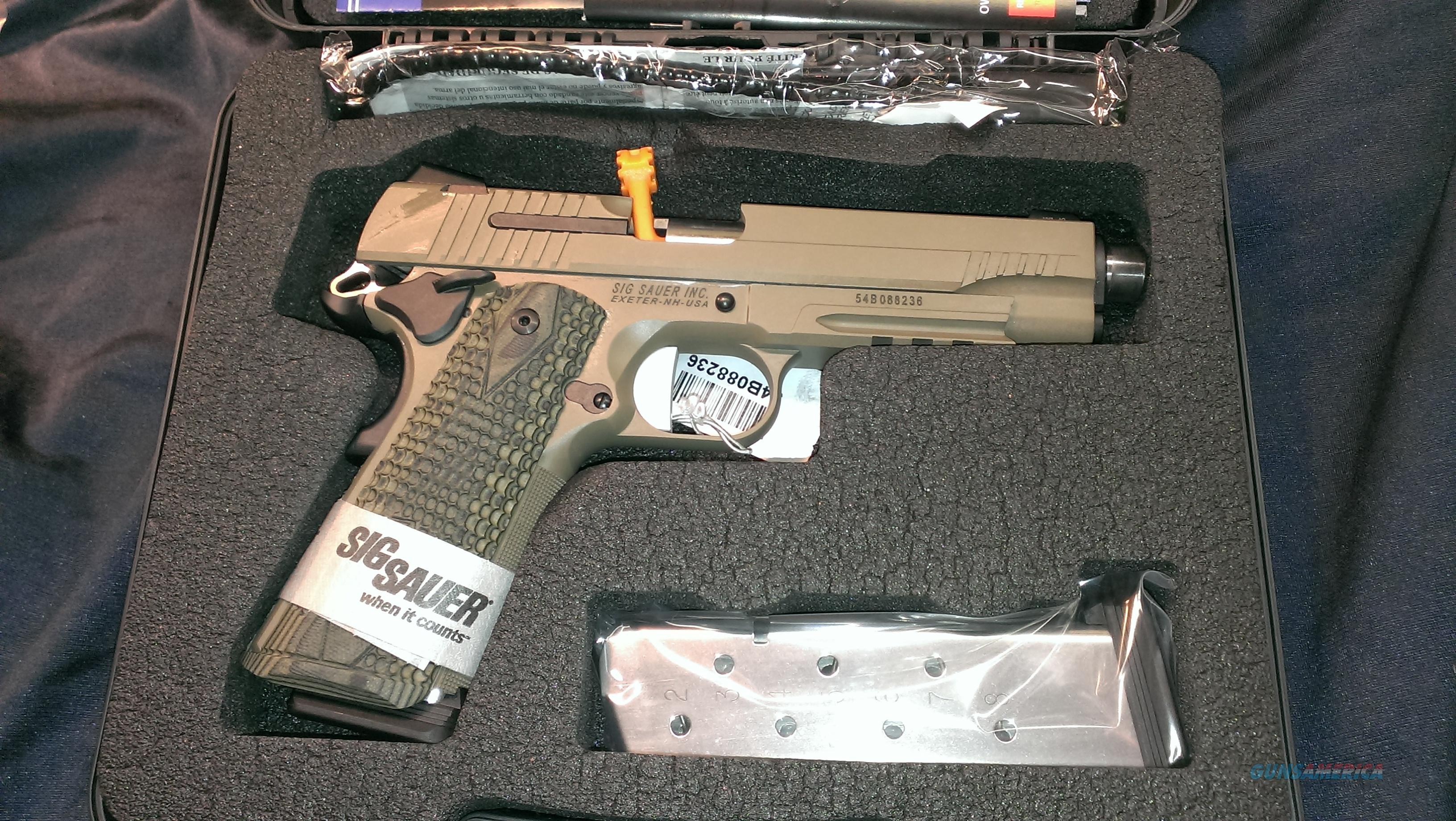 Sig Sauer FDE 1911R-45acp Scoprion with free acp adaptor.  Guns > Pistols > Sig - Sauer/Sigarms Pistols > 1911