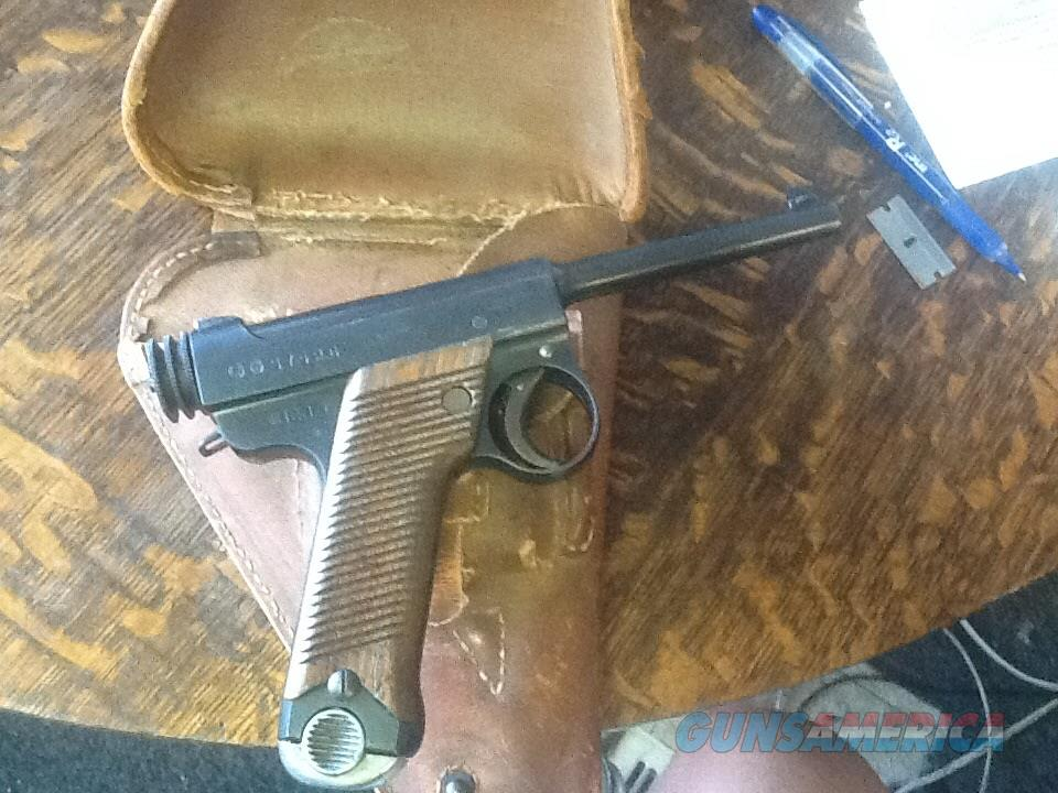Ww2 Japanese small guard  NAMBU type 14  with holster vet bring back   Guns > Pistols > Military Misc. Pistols Non-US