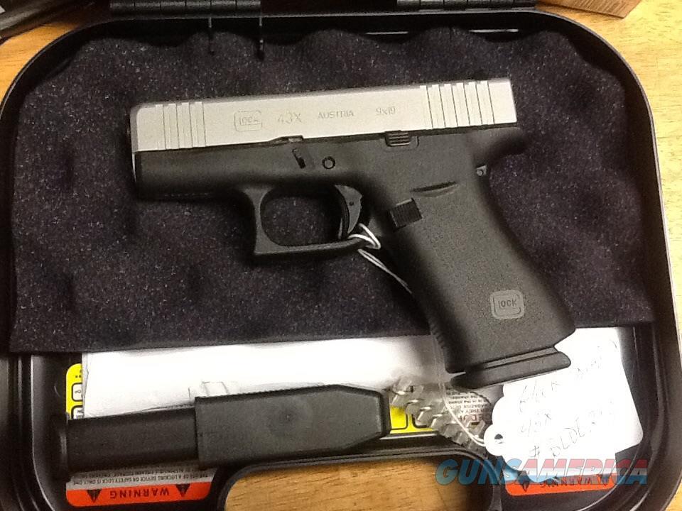 UNFIRED Glock 43x  11 shot 9mm  two tone  perfect carry gun  Guns > Pistols > Glock Pistols > 43