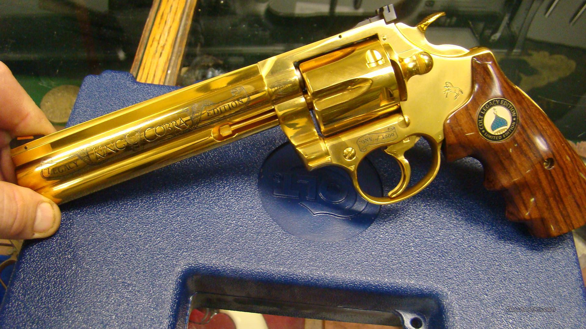 GOLD ENGRAVED 1 OF 1000 COLT KING COBRA GOLD P... for sale