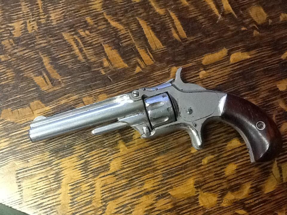 MINTY SMITH & WESSON MODEL 1 NICKEL 22 SHORT ALL ORIGL  Guns > Pistols > Smith & Wesson Revolvers > Pre-1899