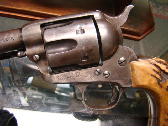 COLT SAA 1ST GEN 4 3/4 IN 38WCF W/OLD STAG GRIPS 100   Guns > Pistols > Colt Single Action Revolvers - 1st Gen.