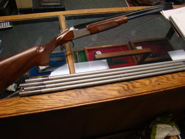 BROWNING MODEL 425 SPORTING 20 GA  W/ CHOKES PORTED 32IN BRL W/ 28 GA AND 410 BRILEY TUBES  Guns > Shotguns > Browning Shotguns > Over Unders > Other OU > Trap/Skeet