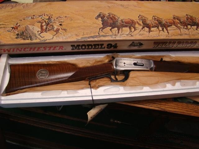NIB UNFIRED WINCHESTER MODEL 94 WELLS FARGO COMMEMORATIVE IN THE BOX  Guns > Rifles > Winchester Rifle Commemoratives