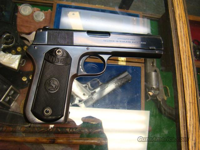 ALL ORIGNAIL  COLT MODEL 1903 38 AUTO RIMLESS  ALL ORIGL MINT  Guns > Pistols > Colt Automatic Pistols (.25, .32, & .380 cal)